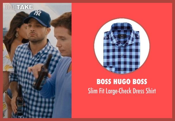 Boss Hugo Boss blue shirt from Entourage seen with Jerry Ferrara (Turtle)