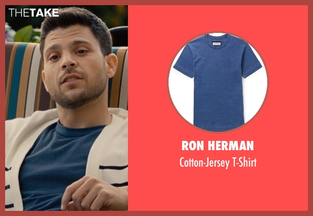Ron Herman blue t-shirt from Entourage seen with Jerry Ferrara (Turtle)
