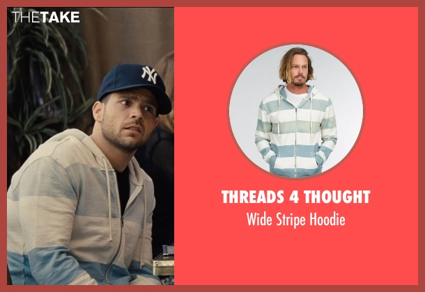 Threads 4 Thought gray hoodie from Entourage seen with Jerry Ferrara (Turtle)