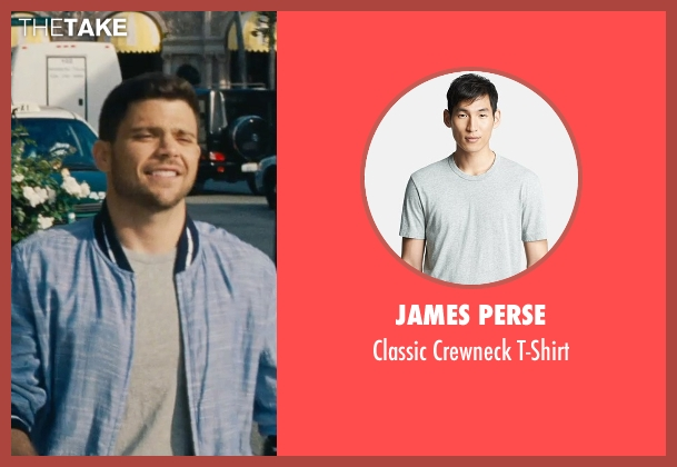 James Perse gray t-shirt from Entourage seen with Jerry Ferrara (Turtle)