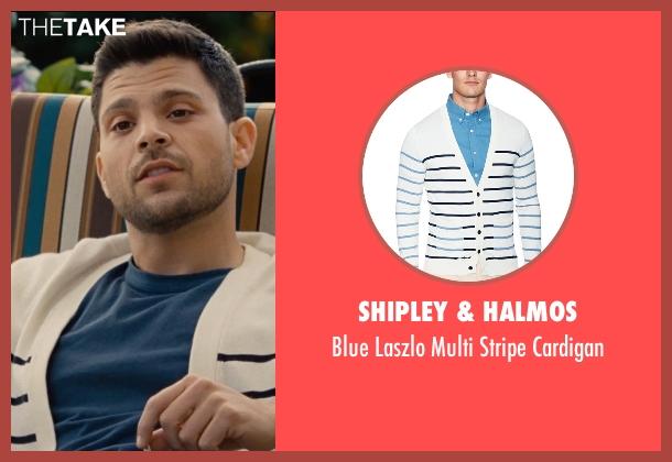 Shipley & Halmos white cardigan from Entourage seen with Jerry Ferrara (Turtle)