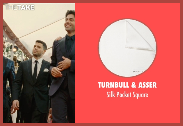 Turnbull & Asser white square from Entourage seen with Jerry Ferrara (Turtle)