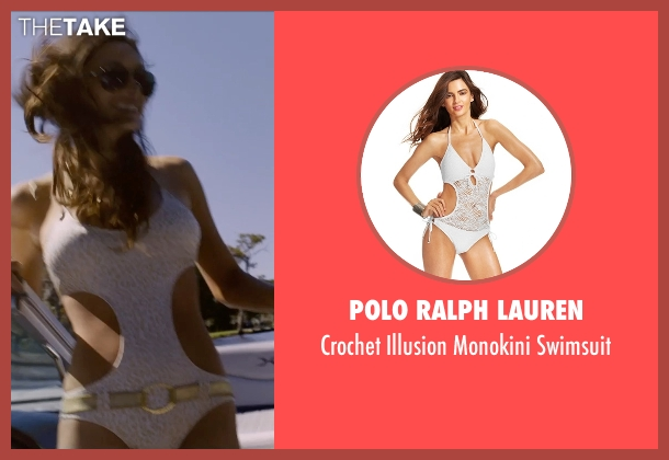Polo Ralph Lauren white swimsuit from Self/Less seen with Jesica Ahlberg (Beautiful Woman #1)