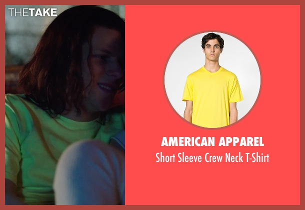 American Apparel yellow t-shirt from American Ultra seen with Jesse Eisenberg (Mike Howell)