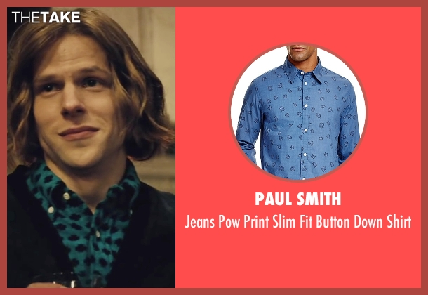 Paul Smith blue shirt from Batman v Superman: Dawn of Justice seen with Jesse Eisenberg (Lex Luthor)