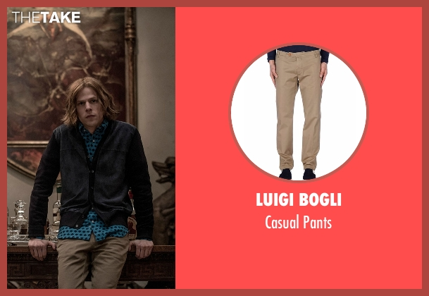 Luigi Bogli brown pants from Batman v Superman: Dawn of Justice seen with Jesse Eisenberg (Lex Luthor)
