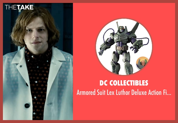 DC Collectibles figure from Batman v Superman: Dawn of Justice seen with Jesse Eisenberg (Lex Luthor)