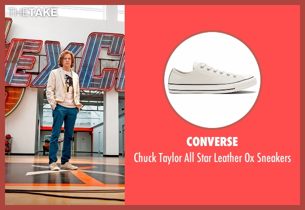 Converse white sneakers from Batman v Superman: Dawn of Justice seen with Jesse Eisenberg (Lex Luthor)