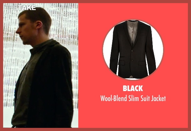 Black black jacket from Now You See Me 2 seen with Jesse Eisenberg (J. Daniel Atlas)