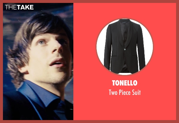 Tonello black suit from Now You See Me 2 seen with Jesse Eisenberg (J. Daniel Atlas)