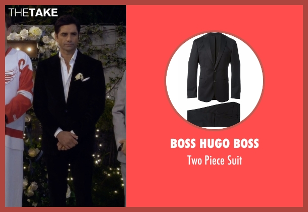 Boss Hugo Boss black suit from Fuller House seen with Jesse Katsopolis (John Stamos)
