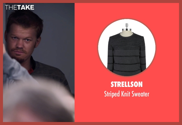 Strellson gray sweater from The Program seen with Jesse Plemons (Floyd Landis)