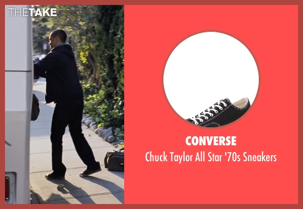 Converse black sneakers from Cabin in the Woods seen with Jesse Williams (Holden)