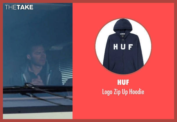 HUF blue hoodie from Cabin in the Woods seen with Jesse Williams (Holden)