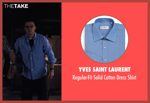 Yves Saint Laurent blue shirt from Cabin in the Woods seen with Jesse Williams (Holden)