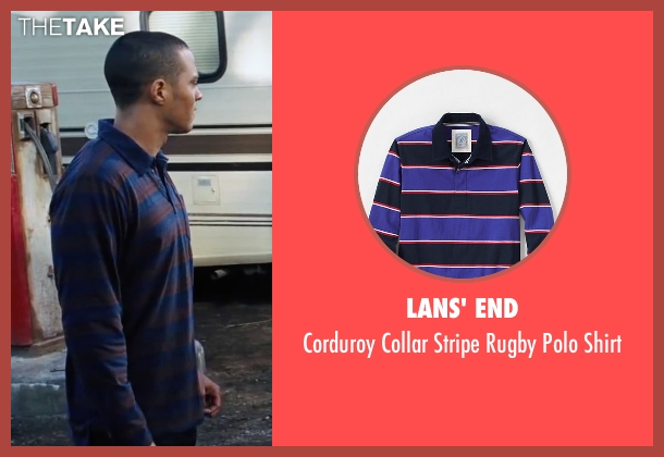 Lans' End blue shirt from Cabin in the Woods seen with Jesse Williams (Holden)