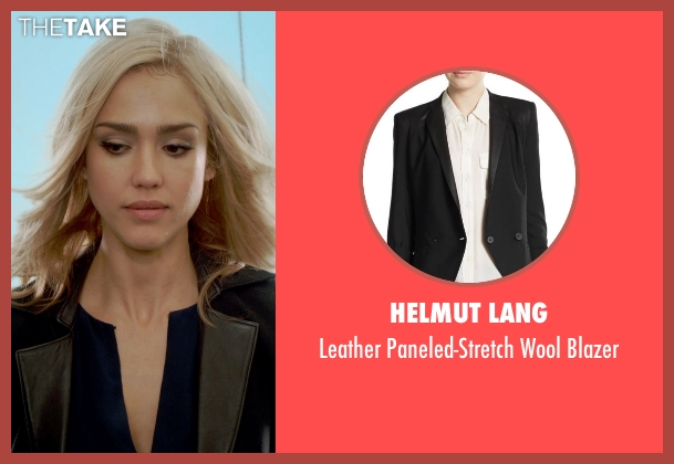 Helmut Lang black blazer from Barely Lethal seen with Jessica Alba (Victoria Knox)