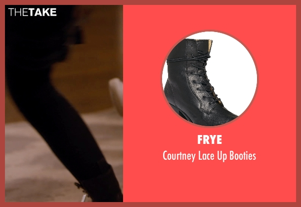 Frye black booties from Barely Lethal seen with Jessica Alba (Victoria Knox)