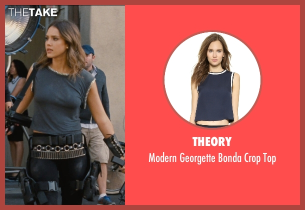 Theory blue top from Entourage seen with Jessica Alba (Unknown Character)