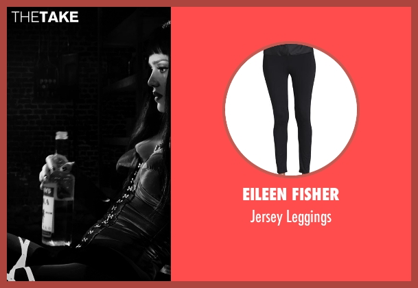Eileen Fisher black leggings from Frank Miller's Sin City: A Dame To Kill For seen with Jessica Alba (Nancy Callahan)