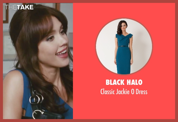 Black Halo blue dress from Little Fockers seen with Jessica Alba (Andi Garcia)