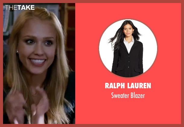 Ralph Lauren black blazer from Valentine's Day seen with Jessica Alba (Morley Clarkson)