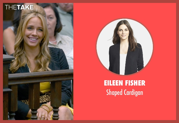 Eileen Fisher black cardigan from Ted 2 seen with Jessica Barth (Tami-Lynn)