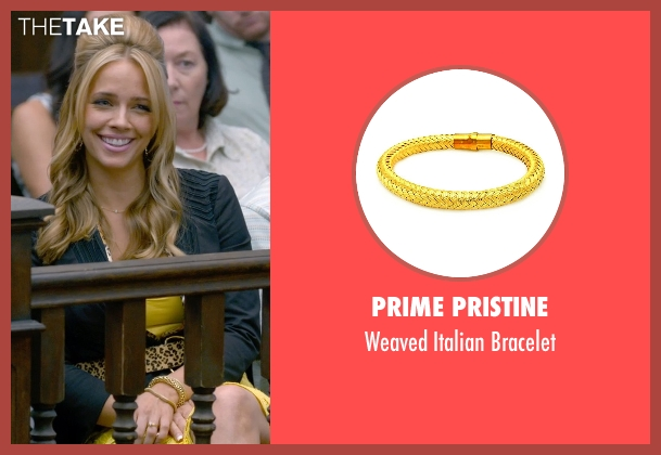 Prime Pristine gold bracelet from Ted 2 seen with Jessica Barth (Tami-Lynn)