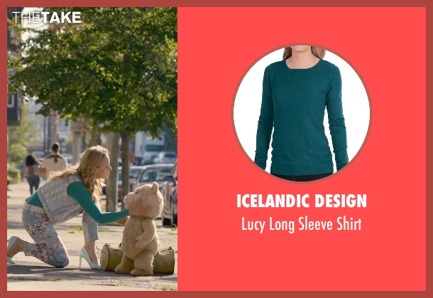 Icelandic Design green shirt from Ted 2 seen with Jessica Barth (Tami-Lynn)