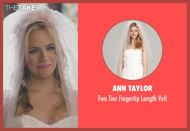 Ann Taylor white veil from Ted 2 seen with Jessica Barth (Tami-Lynn)