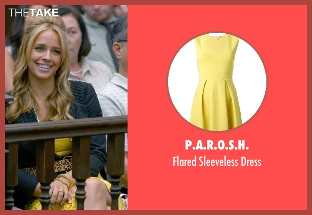 P.A.R.O.S.H. yellow dress from Ted 2 seen with Jessica Barth (Tami-Lynn)
