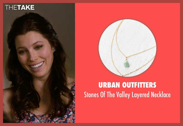 Urban Outfitters green necklace from New Year's Eve seen with Jessica Biel (Tess Byrne)