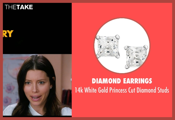 Diamond Earrings studs from New Year's Eve seen with Jessica Biel (Tess Byrne)