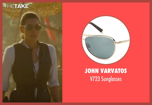 John Varvatos gold sunglasses from The A-Team seen with Jessica Biel (Charissa Sosa)