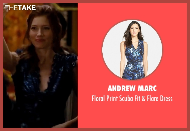 Andrew Marc blue dress from Valentine's Day seen with Jessica Biel (Kara Monahan)