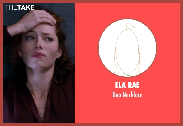 Ela Rae gold necklace from Valentine's Day seen with Jessica Biel (Kara Monahan)