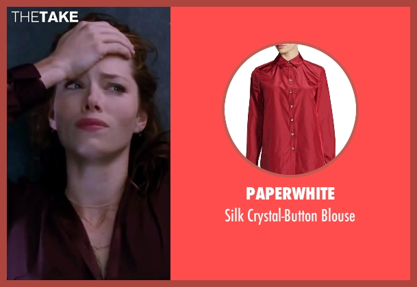 Paperwhite red blouse from Valentine's Day seen with Jessica Biel (Kara Monahan)