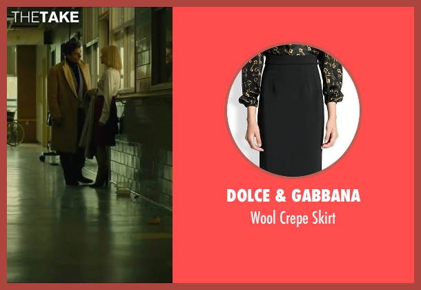 Dolce & Gabbana black skirt from A Most Violent Year seen with Jessica Chastain (Anna Morales)