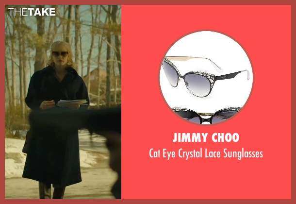 Jimmy Choo black sunglasses from A Most Violent Year seen with Jessica Chastain (Anna Morales)