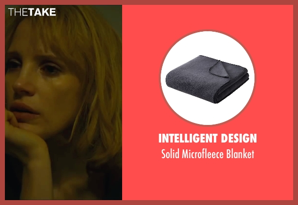 Intelligent Design blanket from A Most Violent Year seen with Jessica Chastain (Anna Morales)