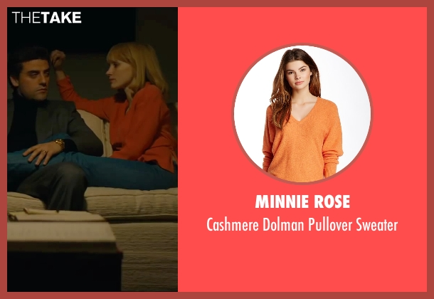 Minnie Rose orange sweater from A Most Violent Year seen with Jessica Chastain (Anna Morales)