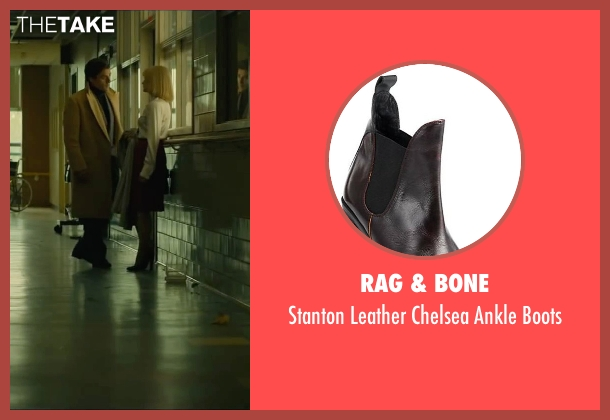 Rag & Bone red boots from A Most Violent Year seen with Jessica Chastain (Anna Morales)