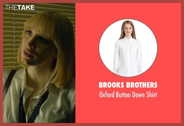 Brooks Brothers white shirt from A Most Violent Year seen with Jessica Chastain (Anna Morales)