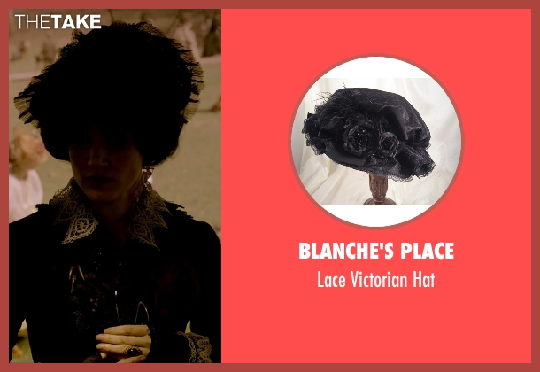Blanche's Place black hat from Crimson Peak seen with Jessica Chastain (Lady Lucille Sharpe)