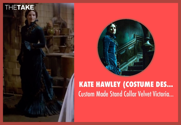 Kate Hawley (Costume Designer) gown from Crimson Peak seen with Jessica Chastain (Lady Lucille Sharpe)