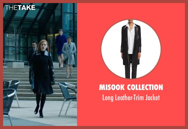 Misook Collection black jacket from Miss Sloane seen with Jessica Chastain (Elizabeth Sloane)