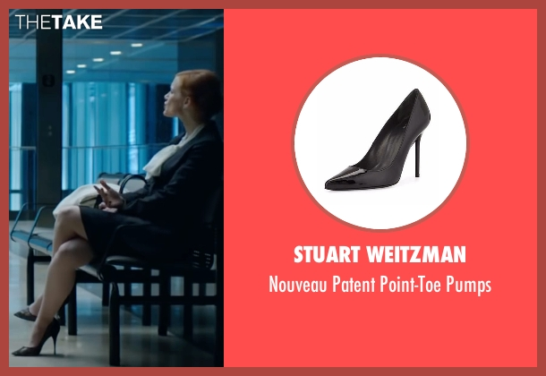 Stuart Weitzman black pumps from Miss Sloane seen with Jessica Chastain (Elizabeth Sloane)