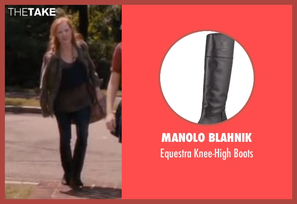 Manolo Blahnik	 black boots from The Disappearance of Eleanor Rigby seen with Jessica Chastain (Eleanor Rigby)