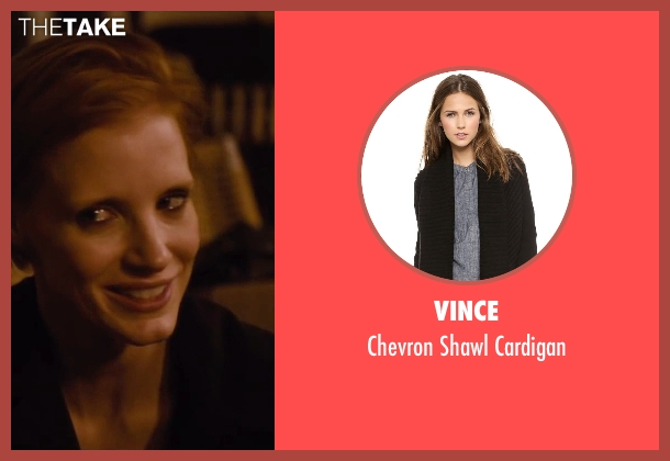 Vince black cardigan from The Disappearance of Eleanor Rigby seen with Jessica Chastain (Eleanor Rigby)