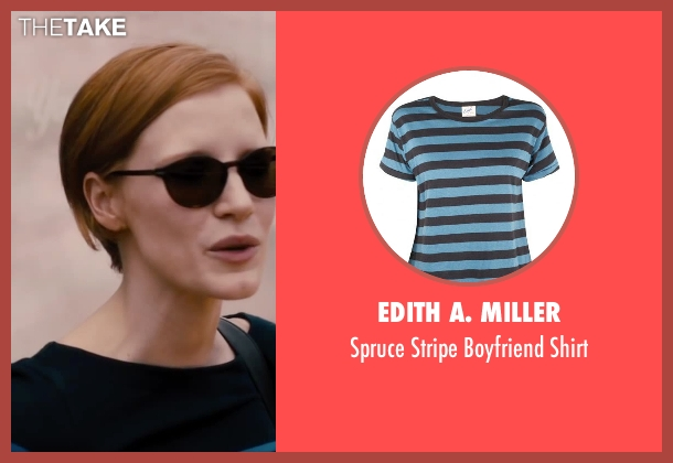 Edith A. Miller blue shirt from The Disappearance of Eleanor Rigby seen with Jessica Chastain (Eleanor Rigby)